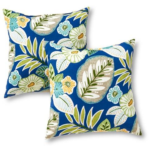 Set of 2 Marlow Floral Outdoor Square Throw Pillows - Kensington Garden - image 1 of 4