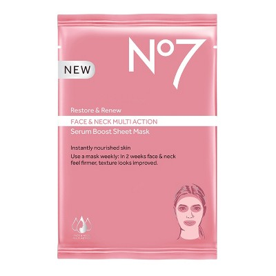 Facial Treatments: No7 Restore & Renew Face & Neck Multi Action Face Mask