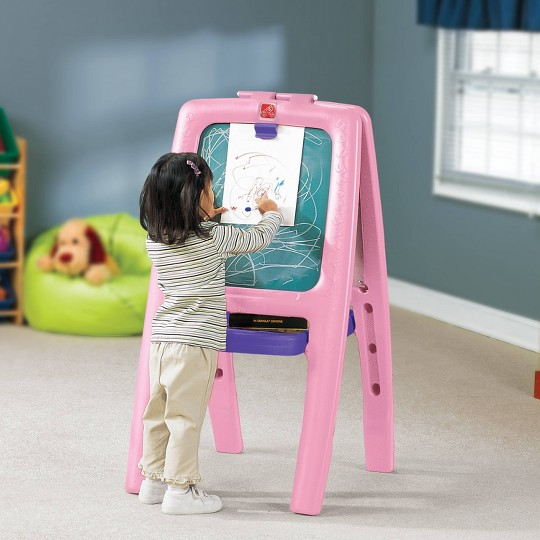 Step2 Easel For Two - 1 pk with foam Magnets - Pink image number null