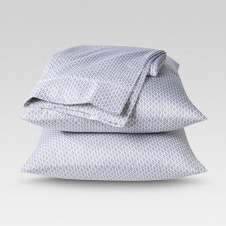 Performance Sheet Set (Queen) Patterned Gray 400 Thread Count - Threshold™