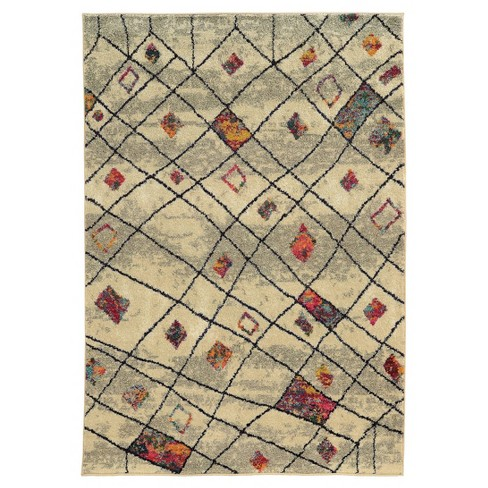 Curved Criss-Cross Area Rug - image 1 of 1