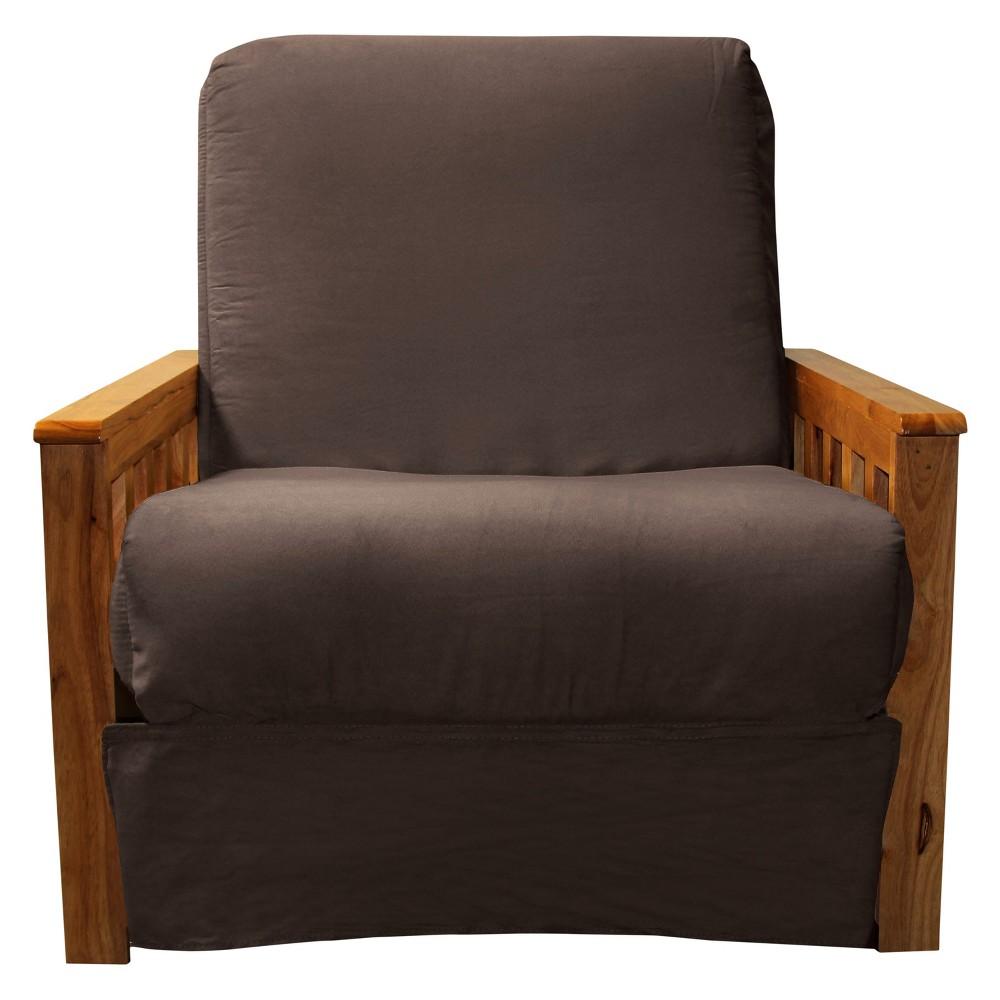 Mission Perfect Convertible Futon Sofa Sleeper - Oak Wood Finish - Epic Furnishings, Espresso Brown