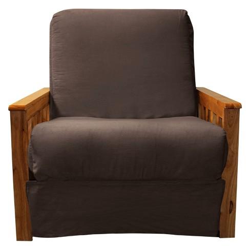 Mission Perfect Convertible Futon Sofa Sleeper Oak Wood Finish
