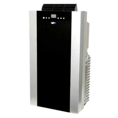 Whynter - 14000-BTU Dual Hose Portable Eco Friendly Air Conditioner Heater - Black/Silver