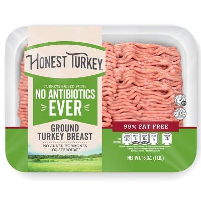 Honest Turkey No Antibiotics Ever 99/1 Ground Turkey - 1lb