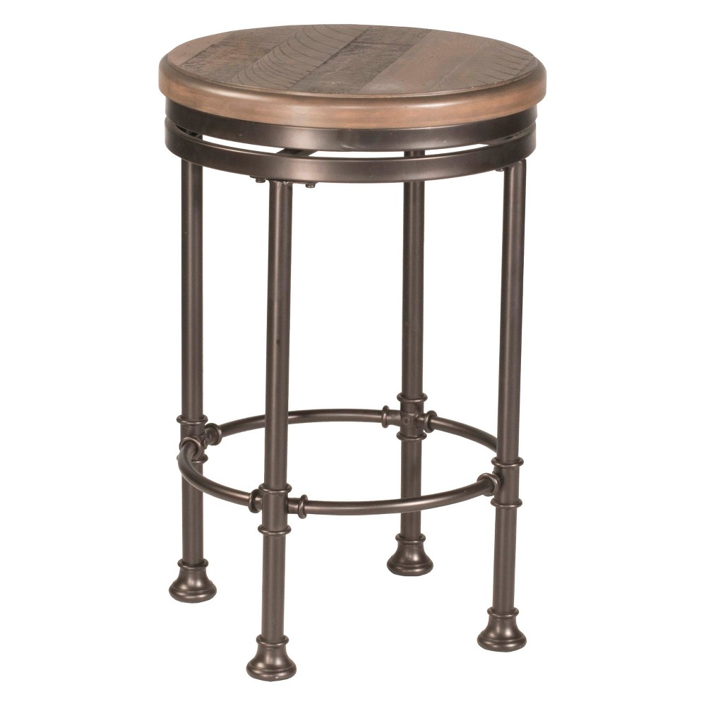 Superb Casselberry Swivel Backless Round Counter Stool Distressed Pabps2019 Chair Design Images Pabps2019Com