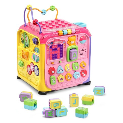 Vtech Ultimate Alphabet Activity Cube Pink Target
