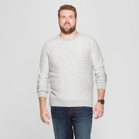 ed57a08837 Men s Big   Tall Crew Neck Sweater - Goodfellow   Co™ Light Grey ...