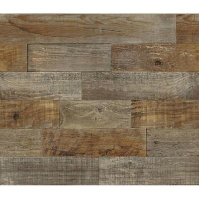 Brewster Farm Wood Peel & Stick Backsplash Brown