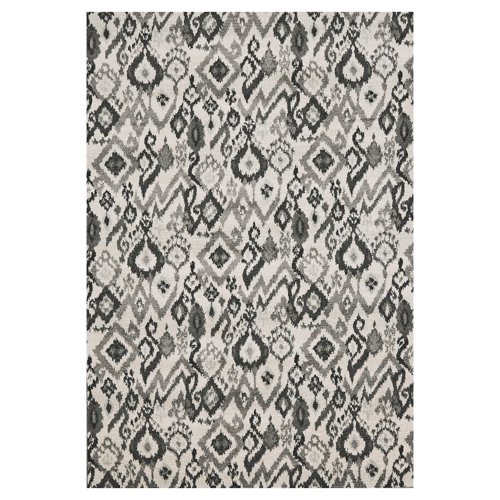5'X8' Geometric Woven Area Rugs Pewter - Room Envy, Silver