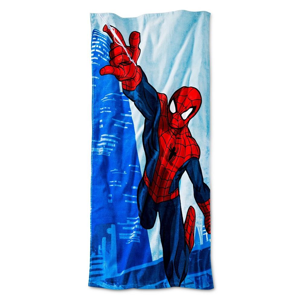 Spider-Man Beach Towel - (28x58 inches) Blue - Marvel
