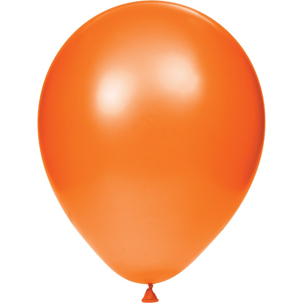 "Image of ""12""""15ct Latex Balloons Orange"""