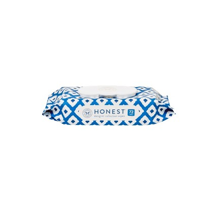 The Honest Company Printed Blue Ikat Baby Wipes - 72ct