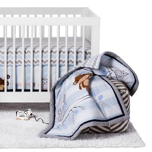 Bedtime Originals 3-Piece Crib Bedding Set - Mod Monkey - image 1 of 4