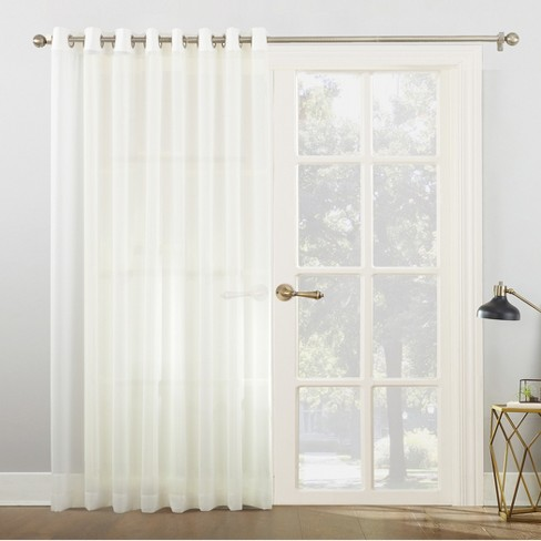 emily extra wide sheer voile sliding door patio curtain panel target. Black Bedroom Furniture Sets. Home Design Ideas