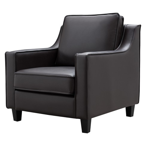 Erik Leatherette Upholstered Accent Chair - miBasics - image 1 of 4