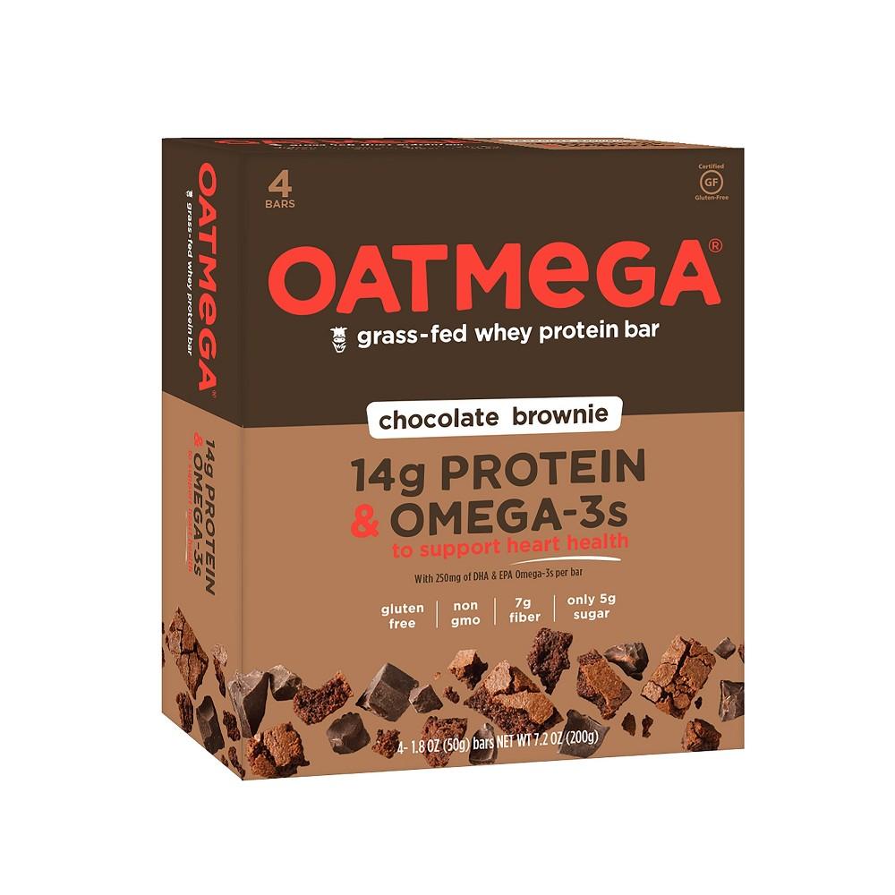 Oatmega Omega-3 Protein Bar - Chocolate Brownie - 4ct