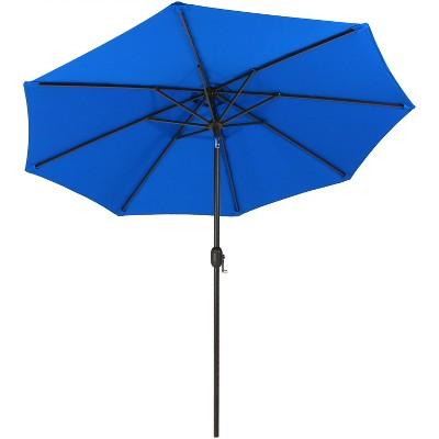 Merveilleux Pacific Blue Patio Umbrella With Auto Tilt And Crank 9u0027   Blue   Sunnydaze  Decor