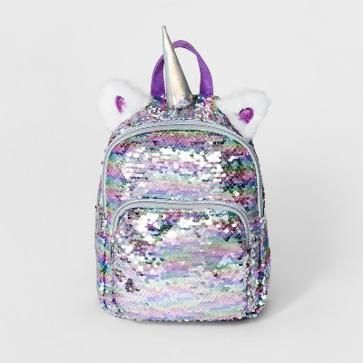 Girls' Sequin Unicorn Mini Backpack - Cat