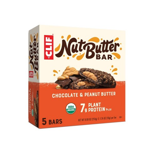 CLIF Nut Butter Bar - Chocolate Peanut Butter Energy Bars - 8.8oz/ 5ct - image 1 of 4