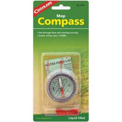 Coghlan's Map Compass, See-Through Base and Rotating Housing, Survival Emergency