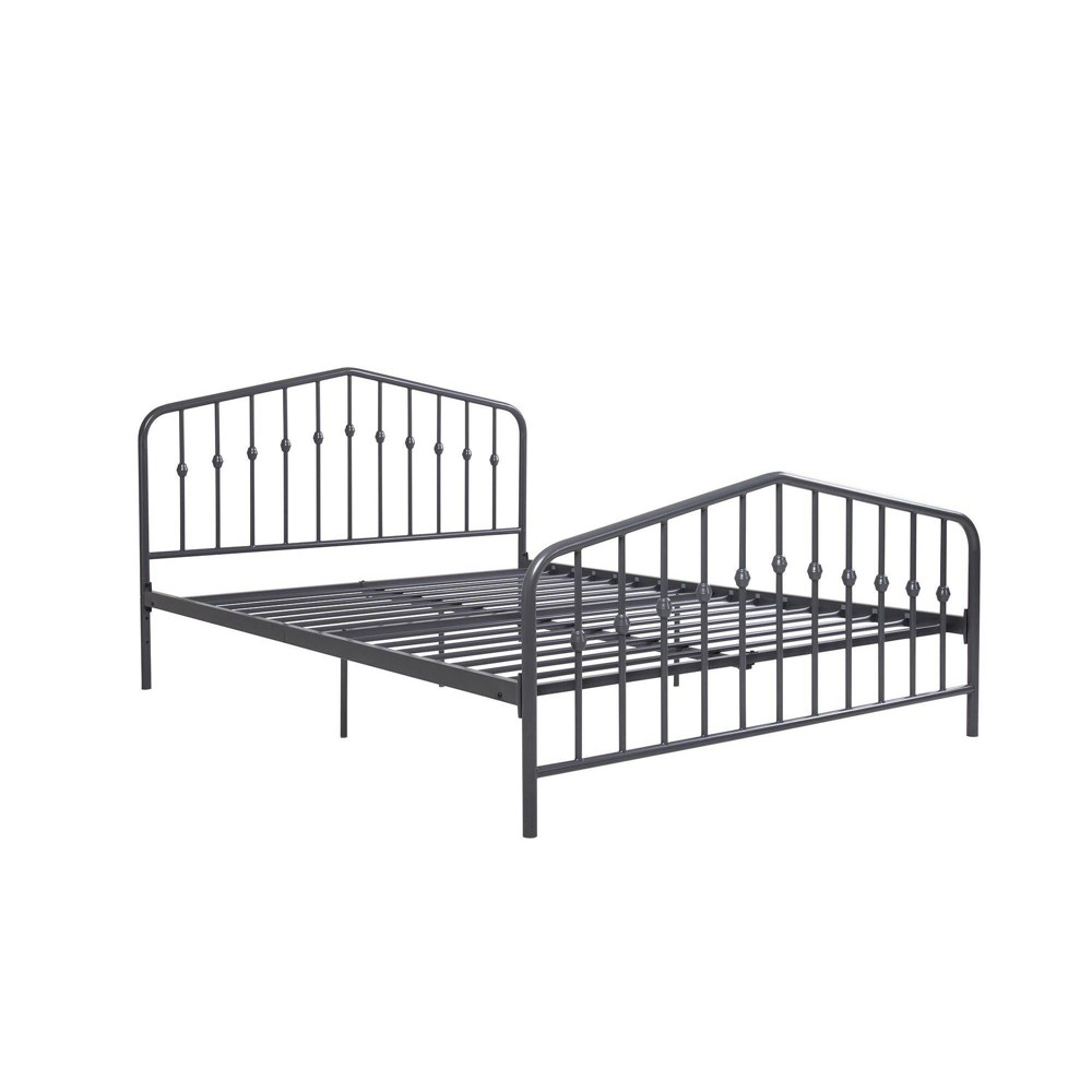 Image of Full Bushwick Metal Bed Gunmetal Gray - Novogratz