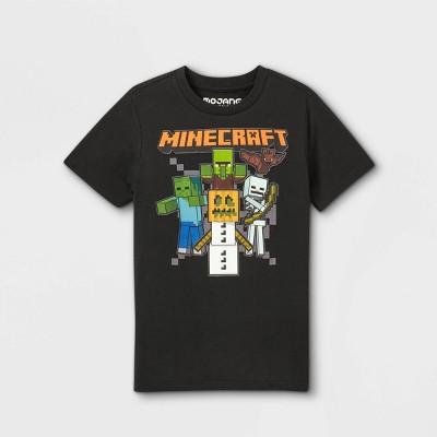 Boys' Minecraft Halloween Short Sleeve Graphic T-Shirt - Black