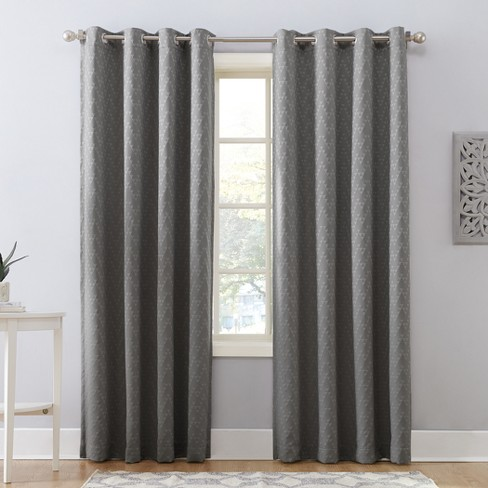 Corinne Woven Geometric Blackout Lined Grommet Curtain Panel - Sun Zero