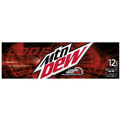 Mountain Dew Code Red Soda - 12pk/12 fl oz Cans