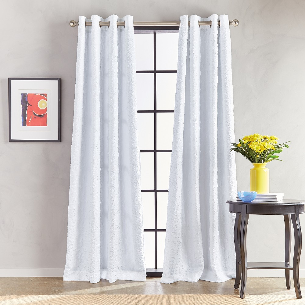 Image of 108 Calista Grommet Lined Curtain Panel White