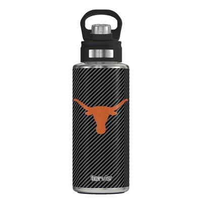 NCAA Texas Longhorns 32oz Carbon Fiber Stainless Steel Water Bottle