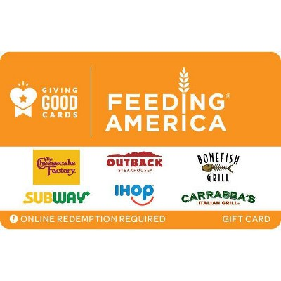 Giving Good Feeding America Gift Card $50 (Email Delivery)