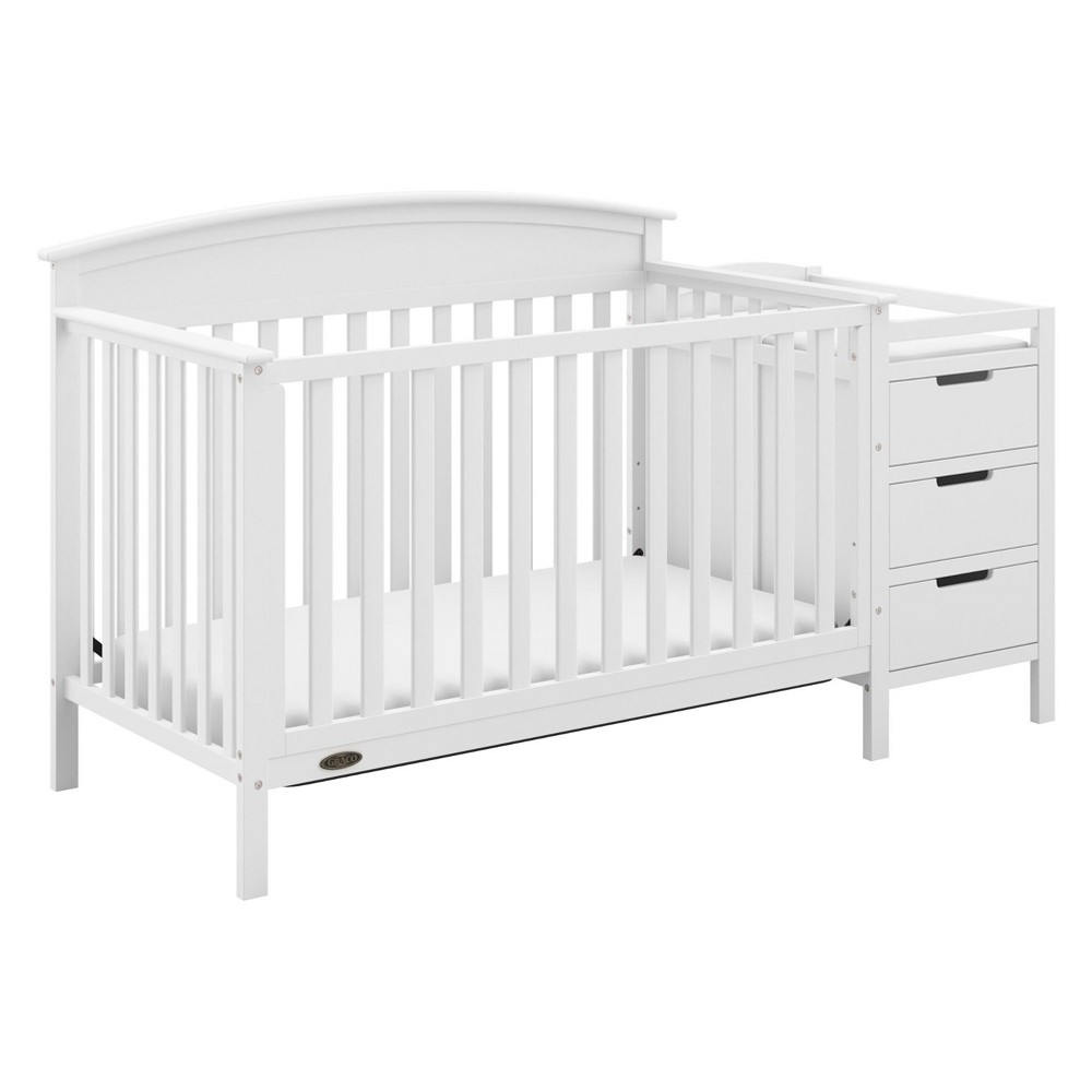 Image of Graco Benton 4-in-1 Convertible Crib and Changer - White
