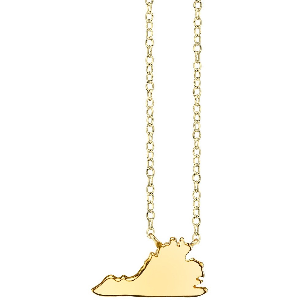 Footnotes State Pendant - Gold, Girl's, Virginia