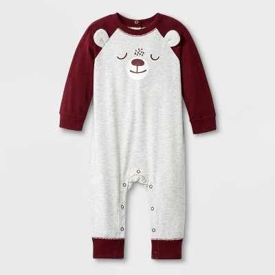 Baby Boys' Critter Romper - Cat & Jack™ Gray Newborn