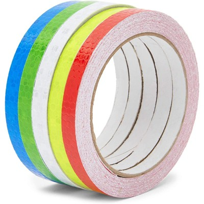Stockroom Plus Waterproof Reflective Safety Tape, 5 Colors (0.39 In x 26.1 Feet)