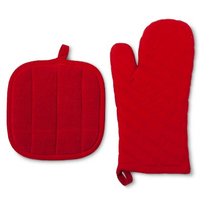 Kitchen Textile Red 2pc - Room Essentials™