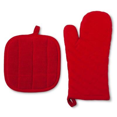 Kitchen Textile Red 2pc - Room Essentials™