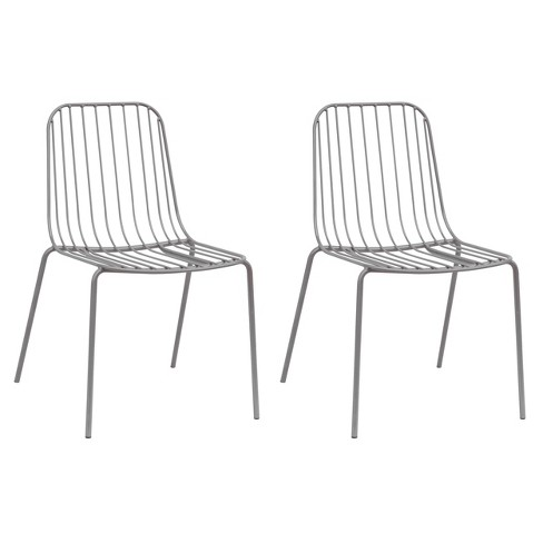 Set of 2 Kids' Parallel Wire Activity Chairs Gray - ACEssentials - image 1 of 3