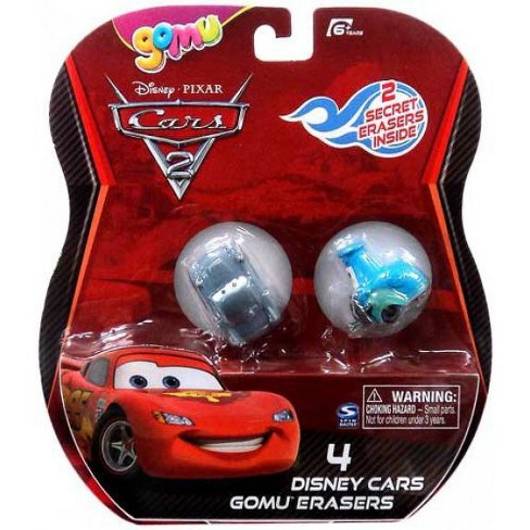 Disney / Pixar Cars Cars 2 Gomu Finn McMissile and Guido Gomu Erasers 4-Pack - image 1 of 1