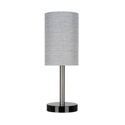 "14"" Marble Mini Accent Desk Lamp (Includes LED Light Bulb) Black - Cresswell Lighting"