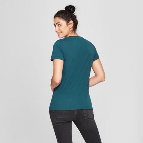 9628e4e8769a3e Women's Monterey Pocket V-Neck Relaxed Fit Short Sleeve T-Shirt - Universal  Thread™ Teal S