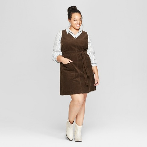e64811b2508e3 Women s Plus Size Sleeveless V-Neck Dress - Universal Thread™ Olive ...