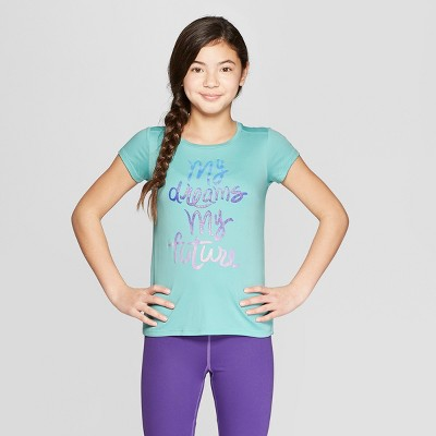 97263e56d509 Girls  My Dreams My Future Graphic Tech T-Shirt - C9 Champion® Teal