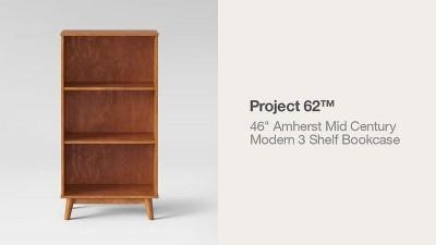 "46"" Amherst Mid-Century Modern 3 Shelf Bookshelf - Project 62™ : Target"