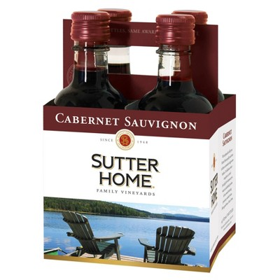 Sutter Home Cabernet Sauvignon Red Wine - 4pk/187ml Bottles