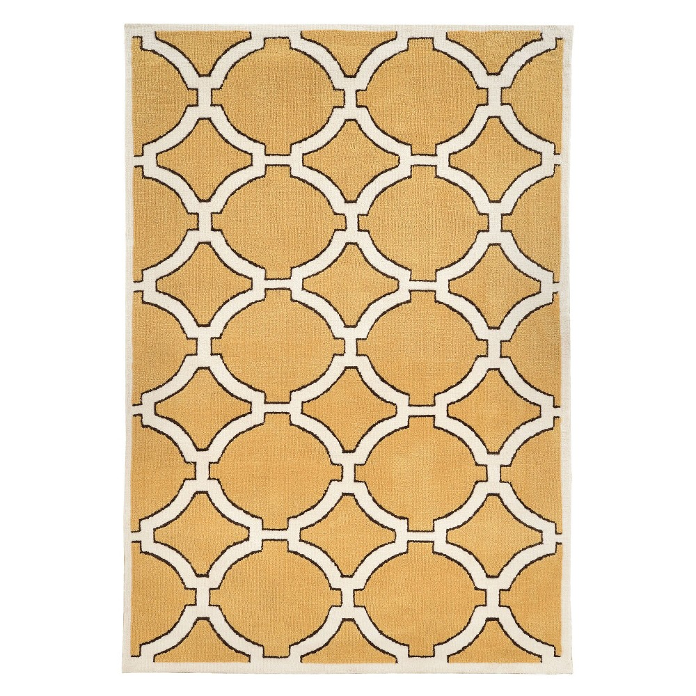 Best Review Geo Luxuriously Soft Porthole Accent Rug Gold Ivory 2 X 3