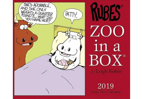 Rubes Zoo in a Box 2019 Calendar -  (Paperback) - image 1 of 1