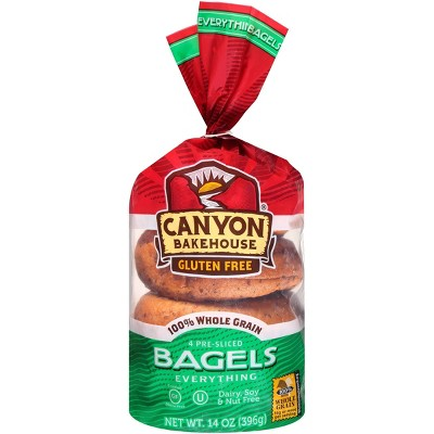 Canyon Bakehouse Gluten Free Everything Bagels - 14oz/4ct