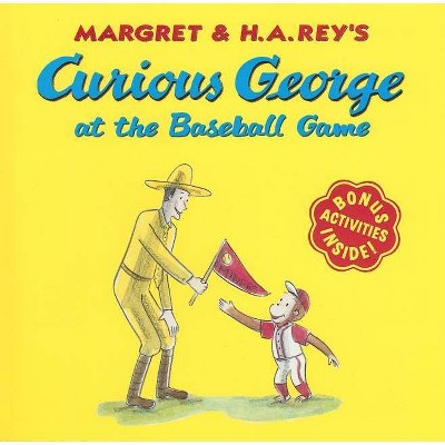 Curious George at the Baseball Game - (Curious George 8x8) by  H A Rey (Paperback)